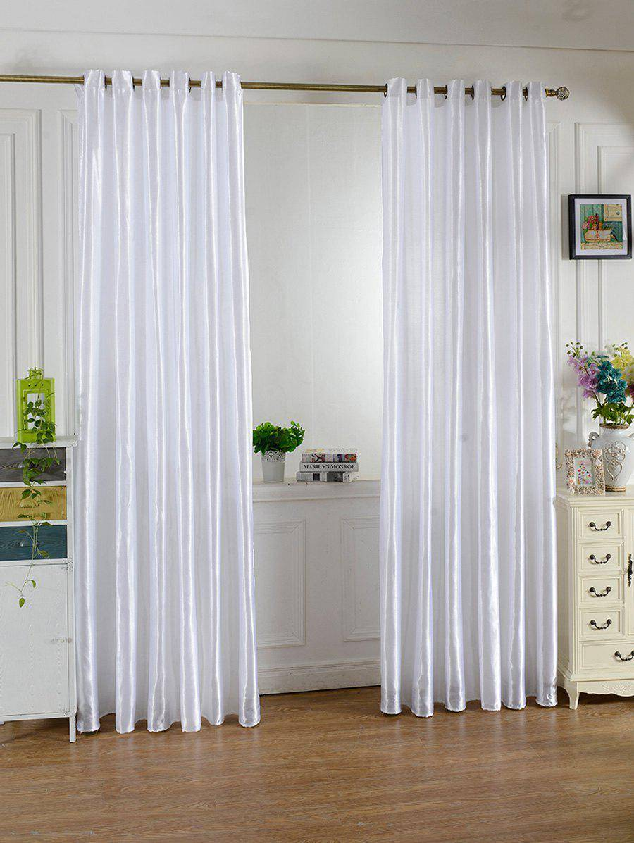 rosegal Home Decor Grommets Ring Top Window Curtain