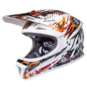 Shot Déstockage Casque cross Shot Déstockage FURIOUS CHARGE 2015 ORANGE
