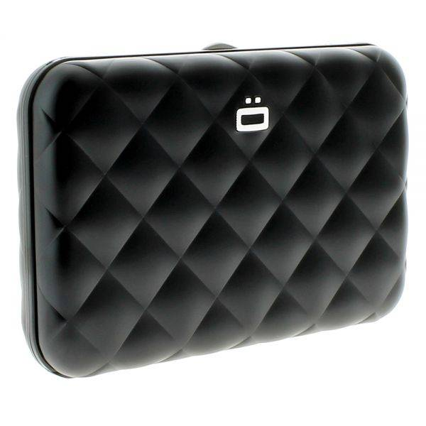 Ogon Quilted Button Black